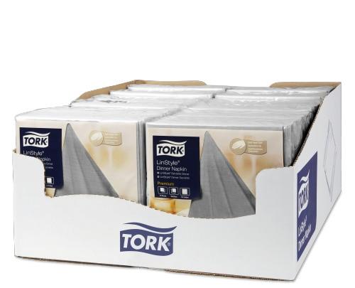 Tork LinStyle® szürke Dinner szalvéta