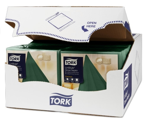 Servilleta para cena Tork Premium Linstyle® verde pino