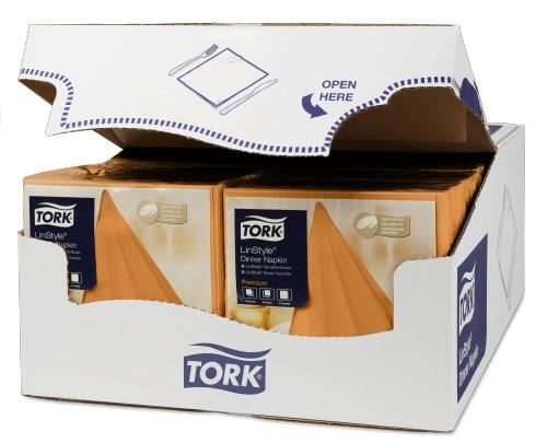 Tork Linstyle® нетканые салфетки обеденные оранжевые