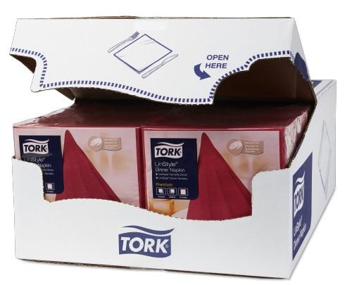 Tork Linstyle® нетканые салфетки обеденные бургунди