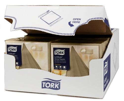 Tork Premium LinStyle® Beige Middagsserviett