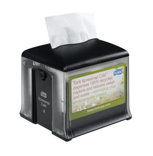 Tork®  Xpressnap Café Tabletop Napkin Dispenser Black