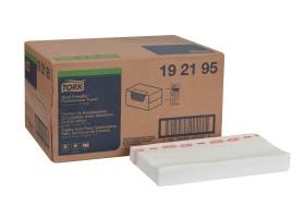Chiffon de nettoyage Tork pour la restauration, compatible avec solutions quaternaires, pli 1/4
