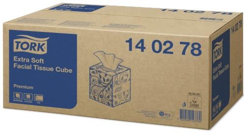 Șervețele Faciale Tork Cube Premium Extra Delicat