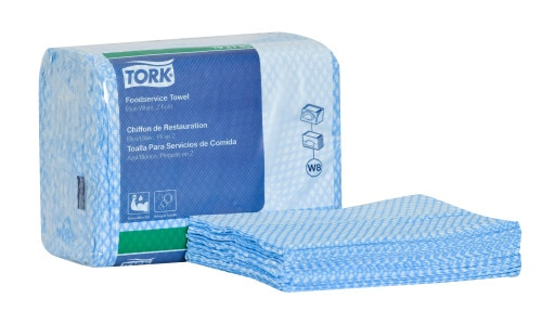 Tork Foodservice Cleaning Towel, Z Fold