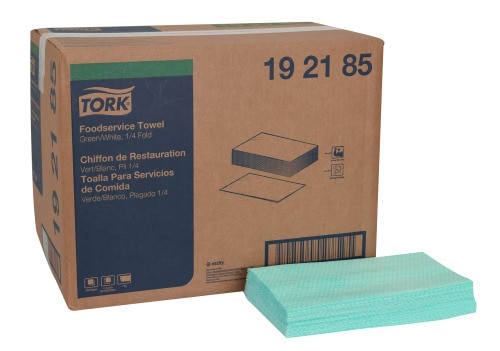 Tork Foodservice Cleaning Towel, 1/4 Fold