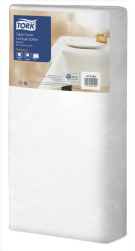 Tork Premium LinStyle®&Film White Tablecover