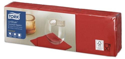 Tork Linstyle® Premium Cocktailservietten Rot
