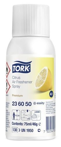 Tork Lufterfrischer Spray mit Zitrusduft