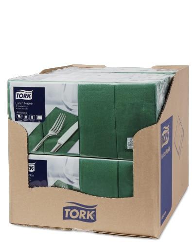 Șervețele de Masă pentru Prânz Tork Dark Green 1/8 pliat