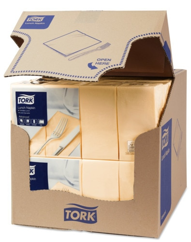 Tork Sand Lunch Napkin 1/8 Folded
