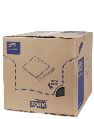 Tork Black Lunch Napkin 1/8 Folded