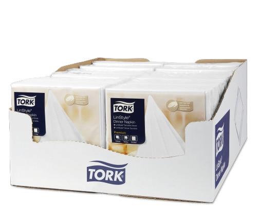 Tork LinStyle® Premium Dinnerservietten Weiß