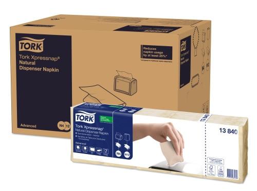 Tork Xpressnap® Natur Dispenserservett med miljötryck