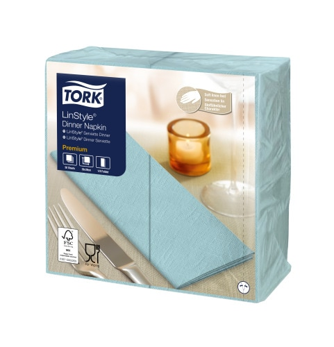 Tork Premium LinStyle® Turkis Middagsserviett 1/8-fold