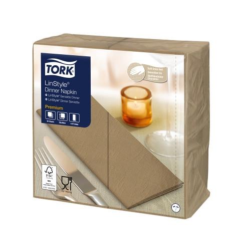 Tork Premium LinStyle® Beige Middagsserviett 1/8-fold