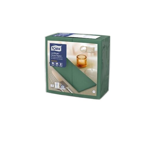«Tork Premium Linstyle®» zaļa banketu salvete, ar 1/8 locījumu