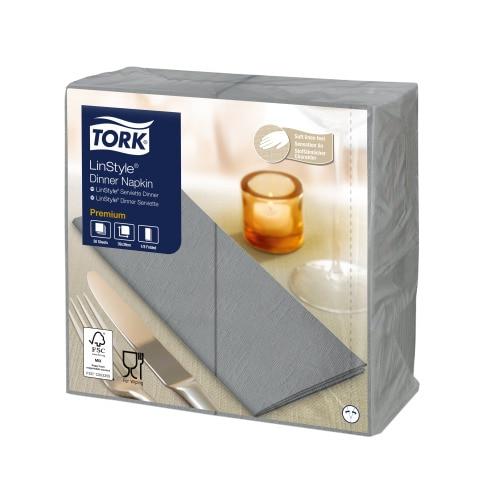 Tork Premium LinStyle® Grå Middagsserviett 1/8-fold