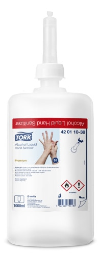 Tekutá dezinfekcia rúk Tork s alkoholom (biocíd)