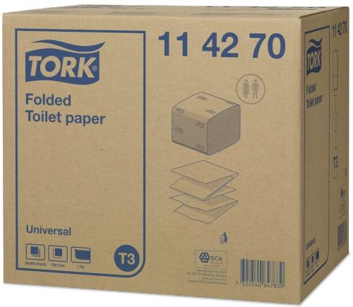 Tork Folded Toilet Paper Universal 1-Ply