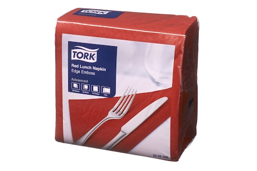 Tork®  Red Edge Emboss Quarterfold Lunch Napkin 2 Ply
