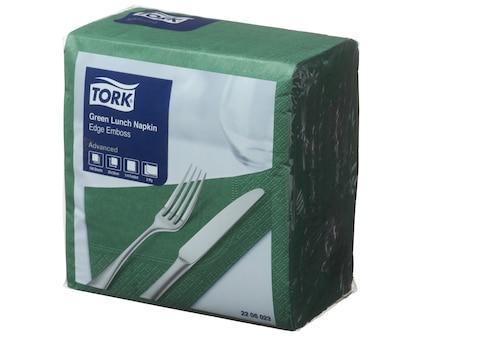 Tork®  Green Edge Emboss Quarterfold Lunch Napkin 2 Ply