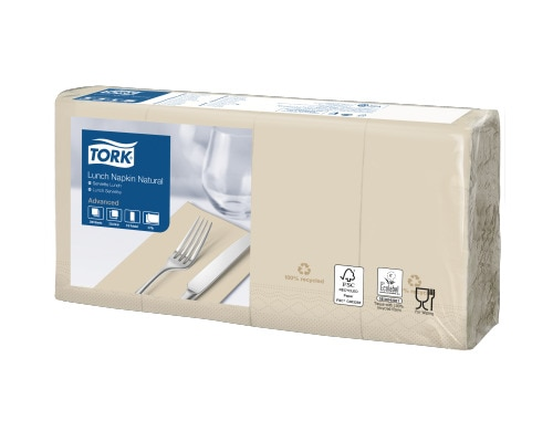 Tork Lunch Servilleta Natural 1/8 Plegada (Reciclada)