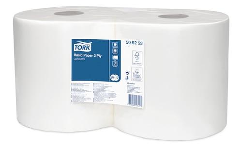 Двухслойная базовая протирочная бумага Tork