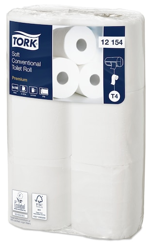 Tork Soft Conventional Toilet Roll Premium 2-Laags
