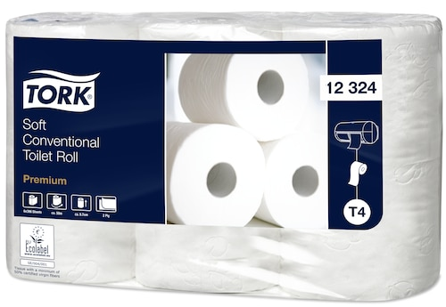 Tork Soft Conventional Toilet Roll Premium - 2 Ply
