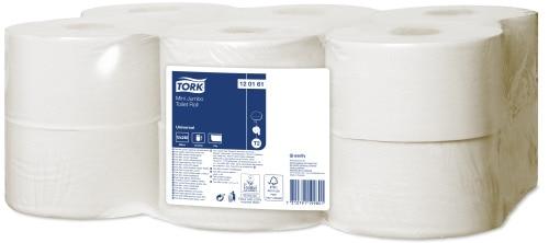Tork Mini Jumbo toaletný papier v kotúči Universal – jednovrstvový