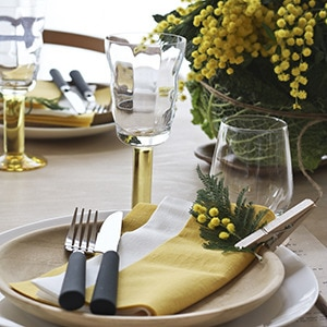 Spring Styling LinStyle Napkins Mustard