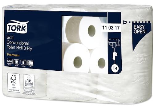 «Tork Premium» mīksts parastā tualetes papīra rullis— 3kārtas