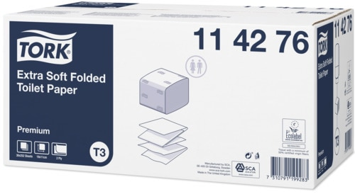 Tork Extra Mjukt Vikt Toalettpapper Premium, T3