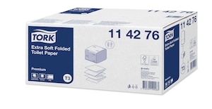 «Tork Premium» īpaši mīksts loksnēs salocīts tualetes papīrs