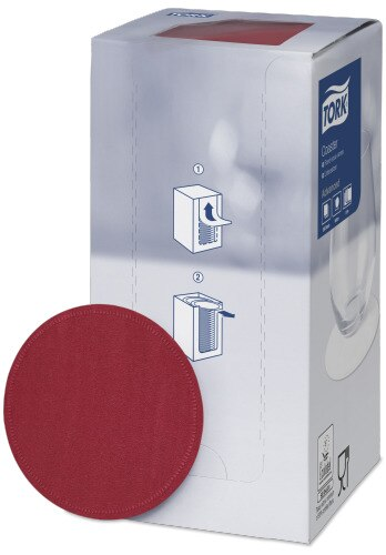 Coaster Tork Bordeaux Red