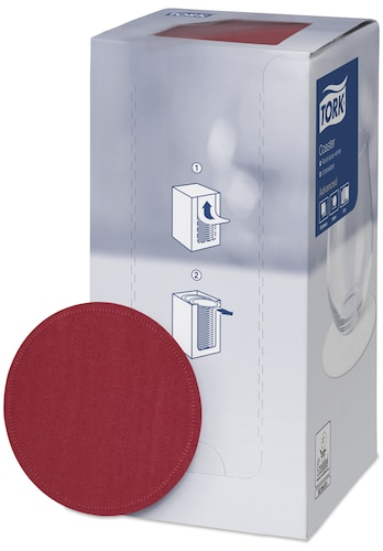 Tork Bordeaux Red Coaster