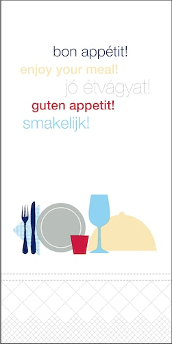 «Tork» pusdienu salvete«Bon Appetit», ar 1/8locījumu