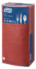 Tork®  Soft Cherry  Edge Emboss Quaterfold Dinner Napkin 3 Ply