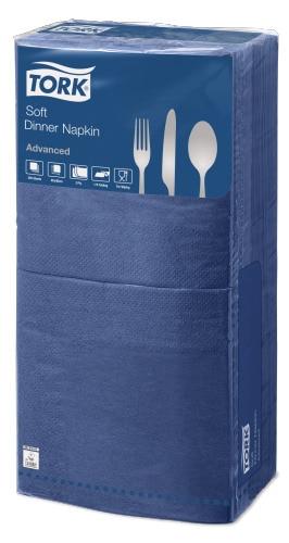 Tork®  Soft Dark Blue Quaterfold Dinner Napkin 3 Ply