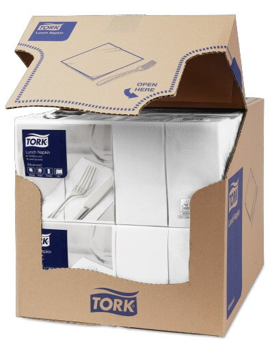 Tork White Lunch Napkin 1/8 Folded