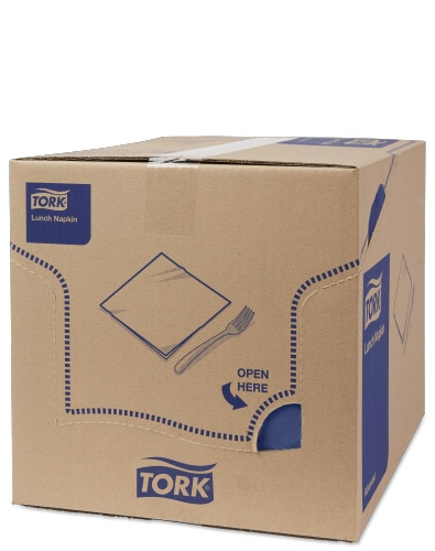 Tork Dark Blue Lunch Napkin