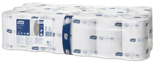 Tork Soft Coreless Mid-Size Toilet Roll Premium - 2 Ply