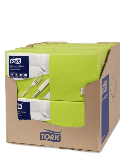 Tork Soft lime Lunch-lautasliina