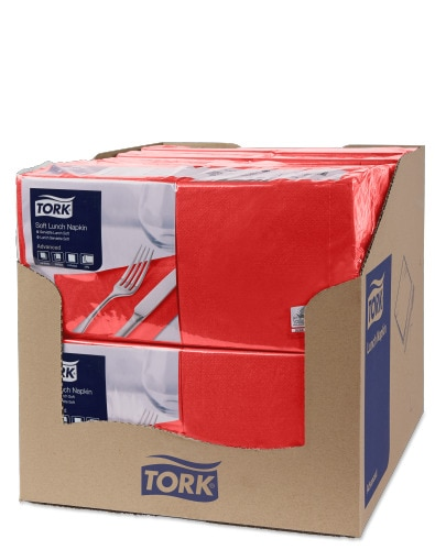 Tork Soft Red Lunch Napkin