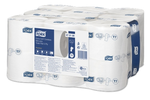 Tork Extra Soft Coreless Mid-Size Toilet Roll Premium - 3 ply