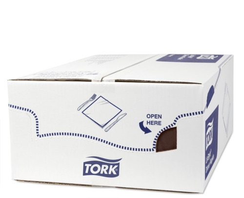 Tork Premium Linstyle® Χαρτοπετσέτα δείπνου, διπλωμένη κατά το 1/8 σε καφέ