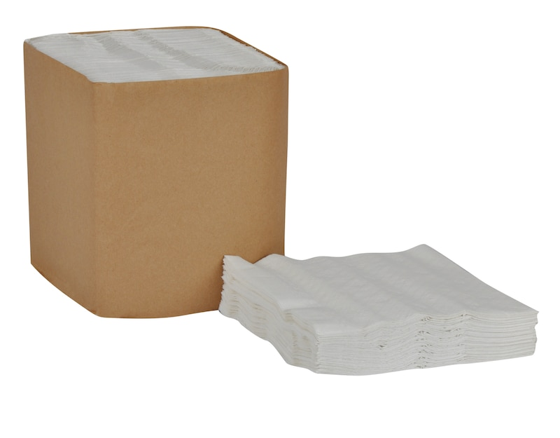 NAPKIN N7141A DINNER WHITE 17X17 1 PLY 1/4 FOLD 4000/CS