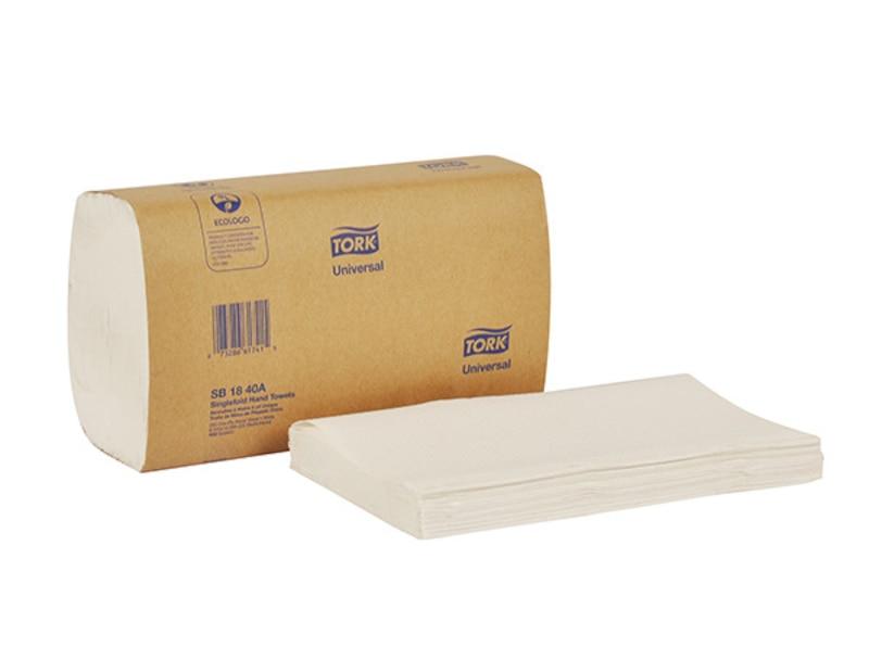 TOWEL SINGLEFOLD SB 18 40A WHITE 9X10 16/250/CS