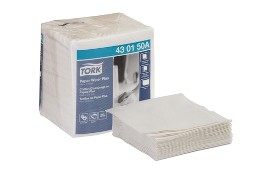 Tork Paper Wiper Plus, 1/4 Fold